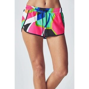 Fabletics Carrie Popsicle Print Pink Multicolor Short - Small